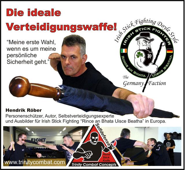 Hendrik Rober - Unbreakable Walking-Stick Umbrella