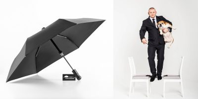 A bouncer, a bulldog, and the Unbreakable® Umbrella Telescopic Model U-212s