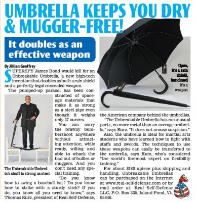 Unbreakable Umbrella in National Examiner