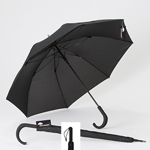 Unbreakable® Walking-Stick Umbrella Standard Model, Crook Handle plus Straight Handle, The Ideal Self-Defense Weapon