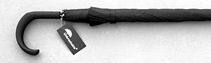 Unbreakable® Walking-Stick Umbrella - Standard Model, Crook Handle